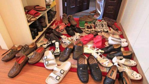 鞋子太多没地方放,一个小方法,不用买鞋柜,再多的鞋子也能放得下