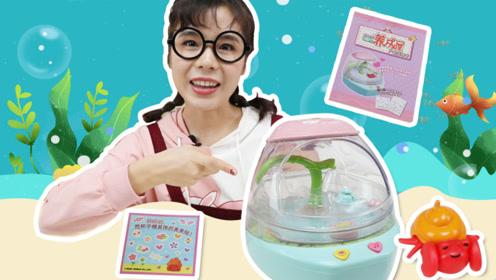 淘淘收养海洋新宠物 并建造海洋小屋给寄居蟹居住 玩具故事