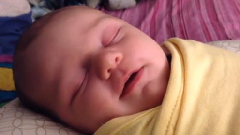 孩子睡觉若出现这4个小动作,说明脑部发育好,家长别轻易打扰
