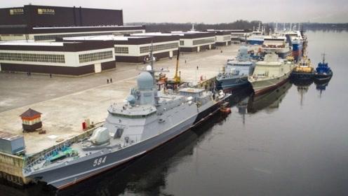 船小火力凶,俄罗斯最新一艘22800型隐形导弹艇下水