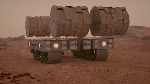 3D动画展示,未来的火星栖息地建造,场面十分逼真!