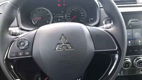 新车抢鲜看:广汽三菱劲炫ASX方向盘转向比,指向性精准,偏运动操控