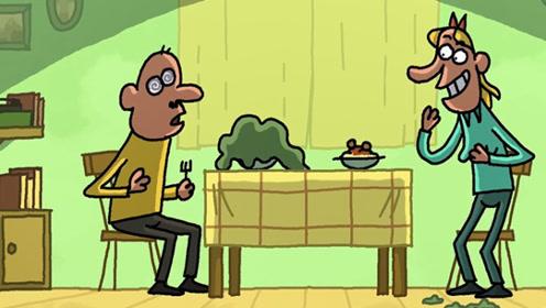 因为饭菜不好吃,妻子催眠丈夫,结果不料自己也被丈夫吞下!
