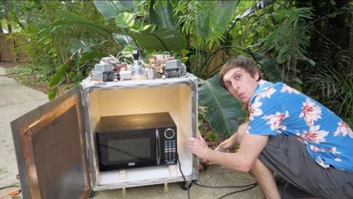 用一台微波炉加热另一台微波炉,会发生什么?这硬核想法太有趣!