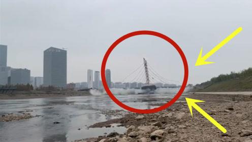 轰隆一声巨响!大桥成功爆破,监控拍下可怕瞬间