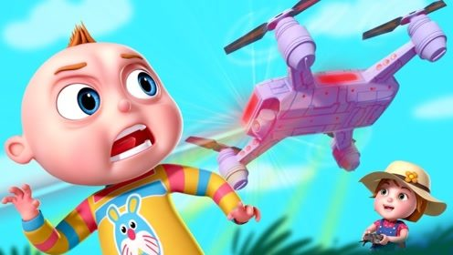 男孩戏弄小女孩,没想到小女孩还有大招,直接把遥控飞机打碎!