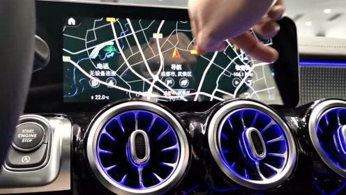 奔驰GLB车机测试: MBUX系统越来越能打