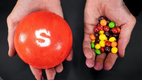 牛人脑洞大开,自制手掌大小的彩虹糖!究竟味道如何呢?