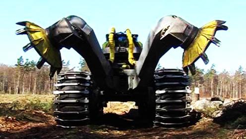 """世界最强""""开荒机"""",300马力外观像坦克,两个大爪子无所不能!"""