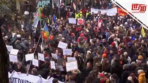法国80万人大罢工:多发暴力打砸事件 上百人被捕