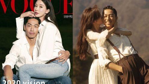 林志玲和黑泽良平合体拍杂志封面,亲密坐在老公腿上,亲吻超用力