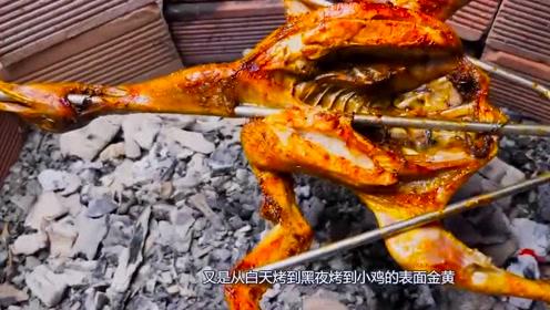越南小伙子们,腌制好的小鸡直接进行烘烤,特别的入味!