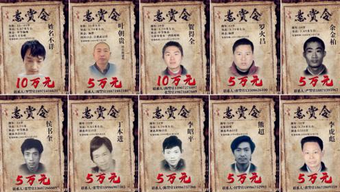 重金通缉!湖北公安发布悬赏令 曝光10名重大命案逃犯个人照