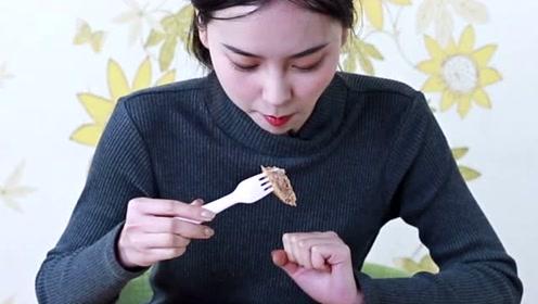 22岁吃货妹子试吃23元的蛋皮牛肉卷,打开包装的瞬间内心是拒绝的