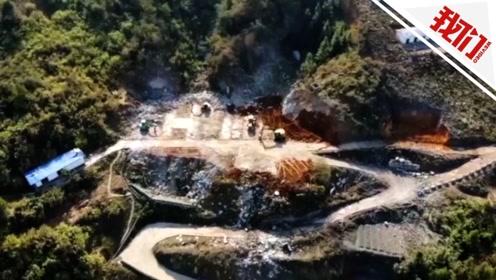 航拍浏阳烟花厂爆炸现场:厂房夷为平地,附近民房窗户震破