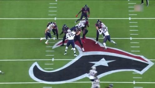 NFL常规赛:爱国者队范诺伊拿全场首个擒杀,解说:这个庆祝动作有点帅!