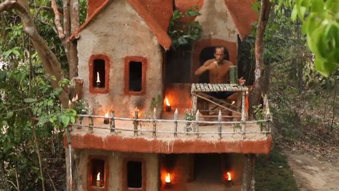 男子被妻子赶出家门,一气之下在野外建房,结果惊艳众人