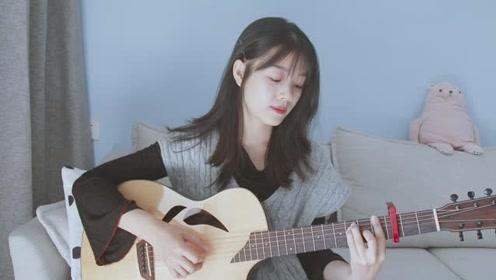 小姐姐温柔弹唱一首周杰伦的《给我一首歌的时间》太动听了  吉他弹唱演示
