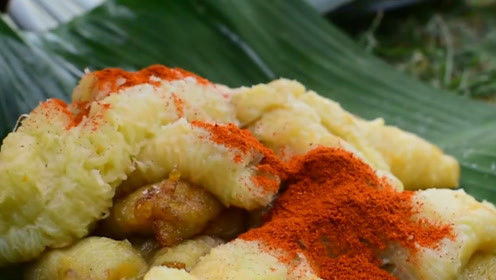 这是印度人最热爱的小吃,香蕉进锅里疯狂翻滚,香味都溢出屏幕了