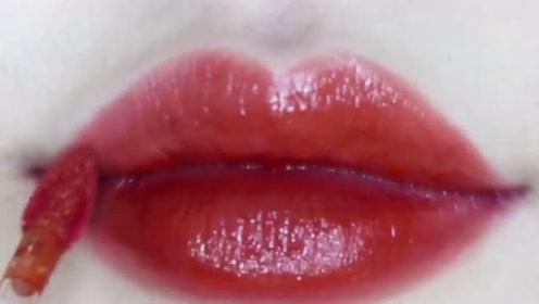 沁色微光水唇釉试色,你爱吗