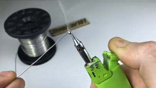 用打火机改造做成微型烙铁,脑洞大开!