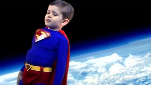 最小的超人,小超人救了穿梭机!