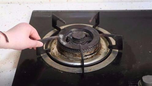 不用一滴水,教你轻松去除灶台污垢,准备的东西家里都有,试一试