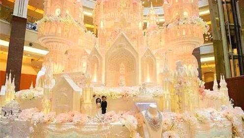 世界上最大的蛋糕,高度超过3层楼,贫穷限制了我们的想象