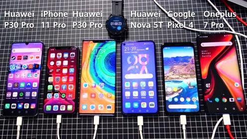 苹果、华为、谷歌旗舰手机充电速度对比,谁才是真正的快充