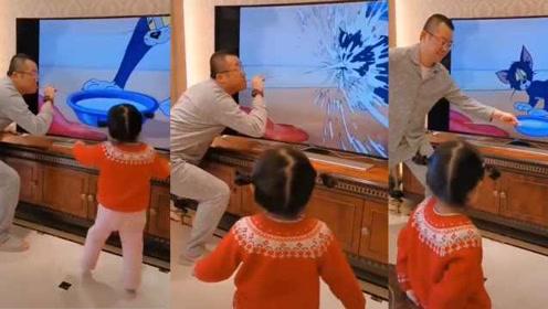 中国爸爸创意扮演猫和老鼠场景,国外网友盛赞