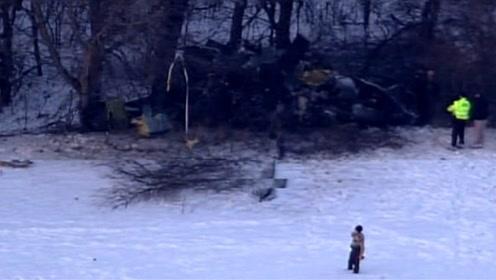 """美国又一架""""黑鹰""""突然坠毁,3名机组成员死亡,事故原因不明"""