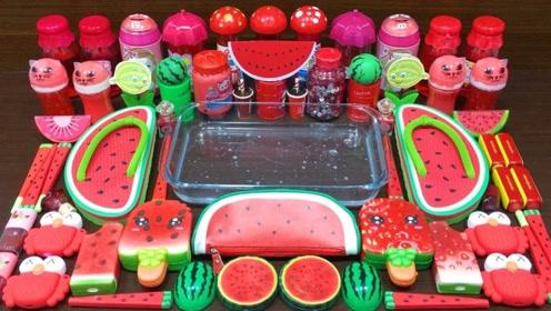 红色西瓜系列混泥,无硼砂,得到超漂亮的泥巴