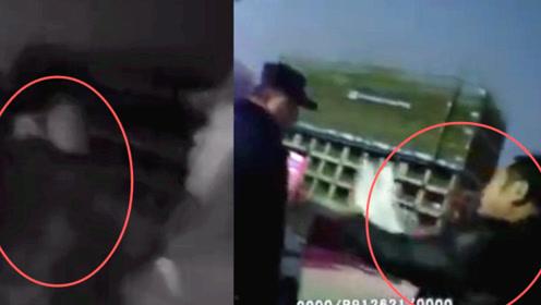 """安徽一男子为给朋友""""撑腰""""拦截辱骂民警 实拍:男子被当场制服"""