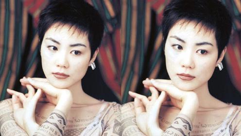 王菲25年前旧照曝光 短发造型青春靓丽衣着打扮时尚前卫