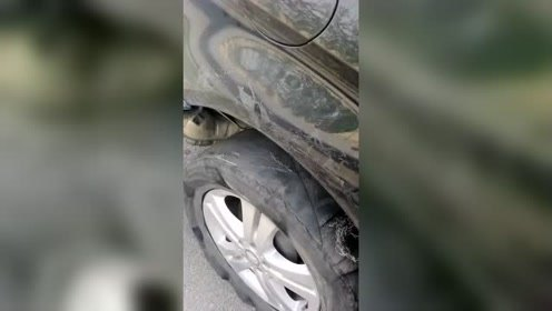 轮胎原来这么爆的!