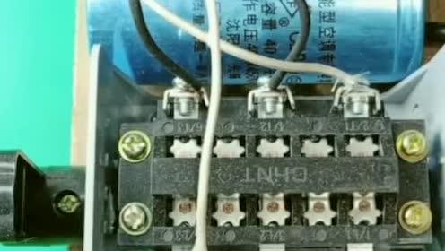 单相双电容电机,倒顺开关正确的接线方法,配有接线图!