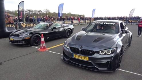 同样是百万级跑车,起步瞬间才知道,美系车和德系车的差距有多大?