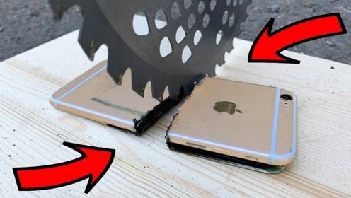 iPhone会被切成两半吗?老外作死实验,3秒后场面太硬核了!