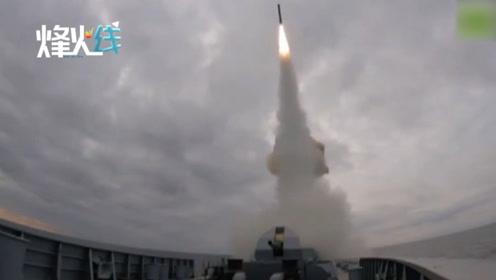 """现场!俄海军黑海秀肌肉""""口径""""巡航导弹腾空而起一击摧毁目标"""
