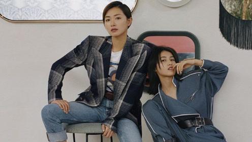 张子枫万茜合体登杂志封面 两人配合默契尽显帅酷气质