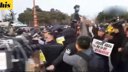 韩国在野党在国会组织谴责现政府集会 参与市民围堵先离场的议员破口大骂