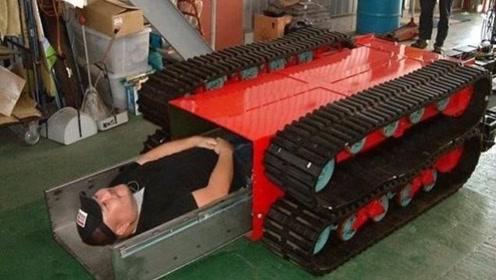 """日本再次发明黑科技""""棺材车"""", 分分钟找到幸存者,铲进肚子里直接运走!"""