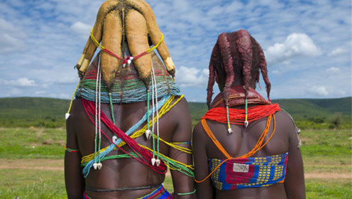 非洲最有个性的原始部落,发型不够炸,连男朋友都交不到