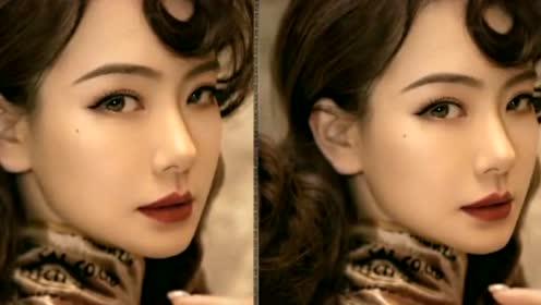戚薇留逗号刘海设计抢眼,复古发型配精致妆容,极其有女人味