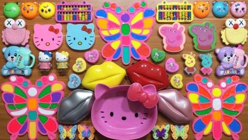 把各种彩色起泡胶、亮片珠子混合做泥,无硼砂,减压又好玩