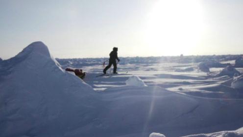 人类极限考验之旅:独自滑雪62个马拉松的距离到北极