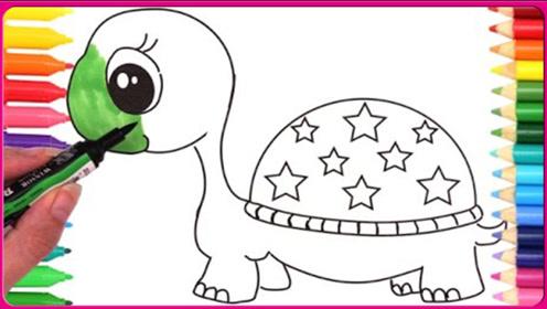 奇趣蛋小乌龟制作彩绘画画颜色教程 小怜玩具 扮家家 艾莎公主