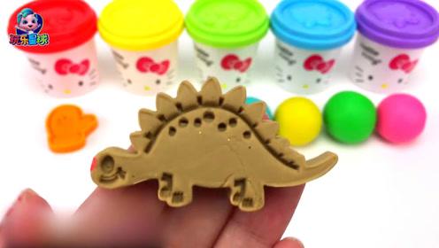 培乐多彩泥小猪佩奇恐龙认颜色