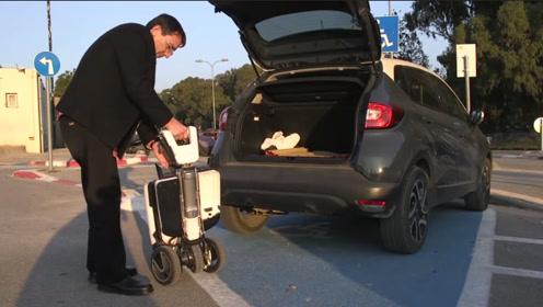 这电动车会变形!分分钟折叠成行李箱,再也不怕堵车和找停车位了