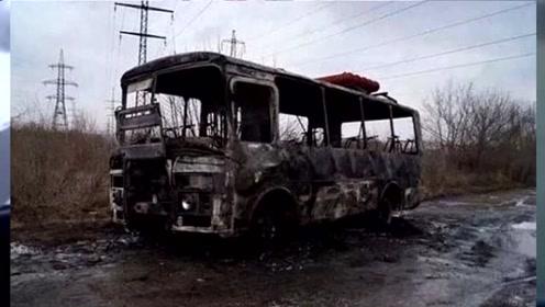 哈萨克斯坦大巴起火致52人死 车身被烧只剩车架
